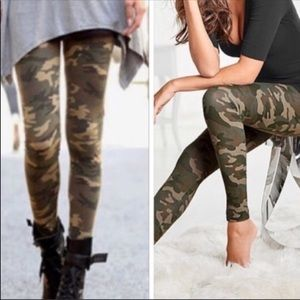 Pants - Camouflage leggings NWT in OS